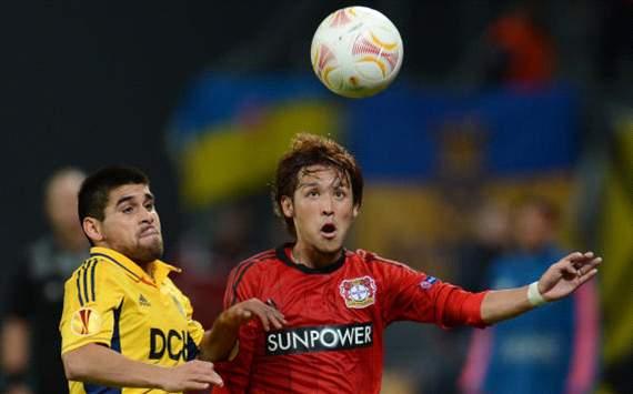 Leverkusen - Charkiw: Hosogai and Edmar