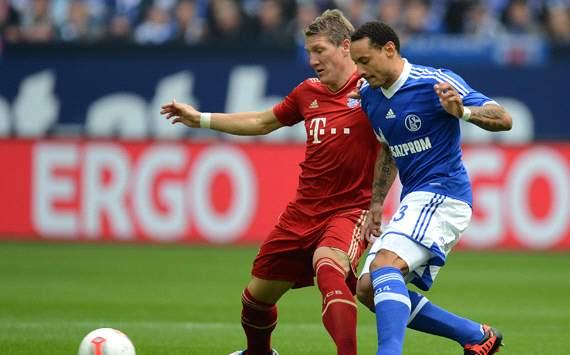 FC Schalke 04 v FC Bayern München: Bastian Schweinsteiger & Jermaine Jones