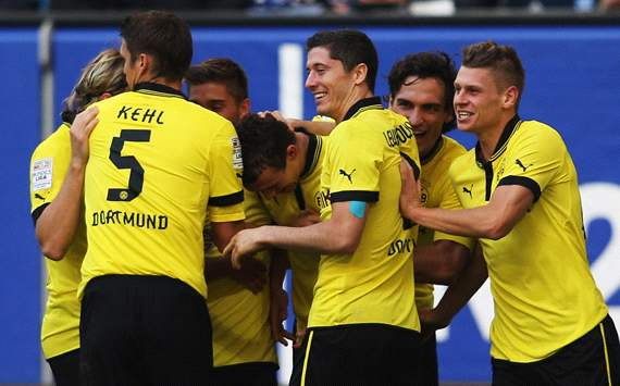 Hamburger SV v Borussia Dortmund: BVB celebrating