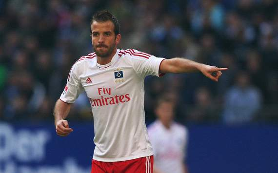 Van der Vaart unhappy with Hamburg form
