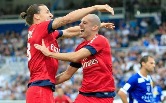 Ligue 1 : Zlatan Ibrahimovic &amp; Jeremy Menez (Bastia vs Paris SG)