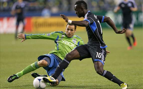 Christian Tiffert; Simon Dawkins; San Jose Earthquakes - Seattle Sounders