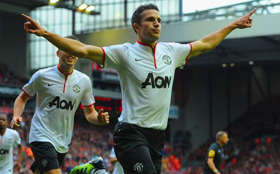 EPL - Manchester United vs Liverpool, Robin Van Persie