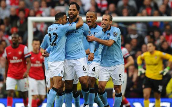 EPL - Manchester City vs Arsenal, Joleon Lescott, Gael Clichy &amp; Pablo