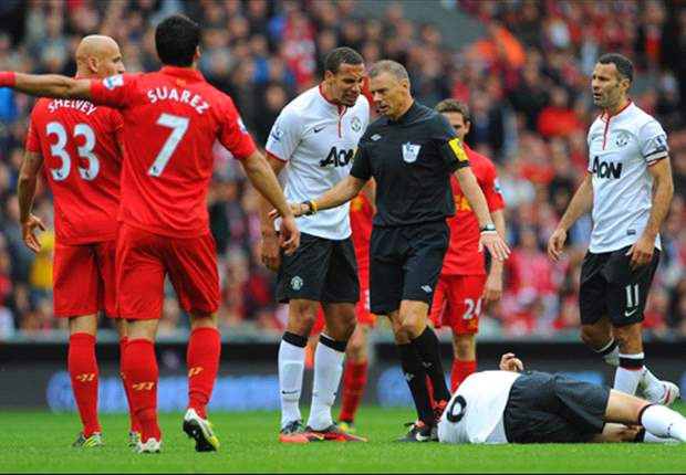 Referee Mark Halsey receives Twitter abuse following Liverpool's defeat to Manchester United