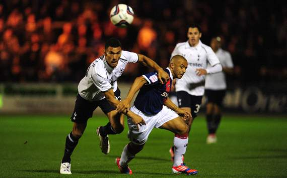 Capital One Cup, Carlisle United v Tottenham Hotspur, Danny Cadamarteri, Steven Caulker