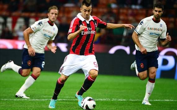 Perico (C), El Shaarawy (M), Rossettini (C) - Milan-Cagliari - Serie A