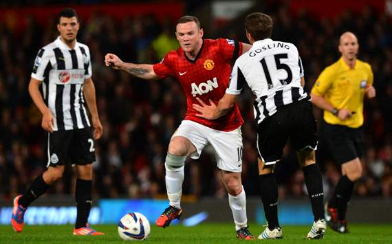 Capital One Cup, Manchester United v Newcastle United, Wayne Rooney, Dan Gosling