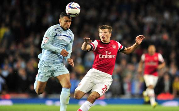 League Cup: Jordan Clarke - Andrey Arshavin, Arsenal vs Coventry City