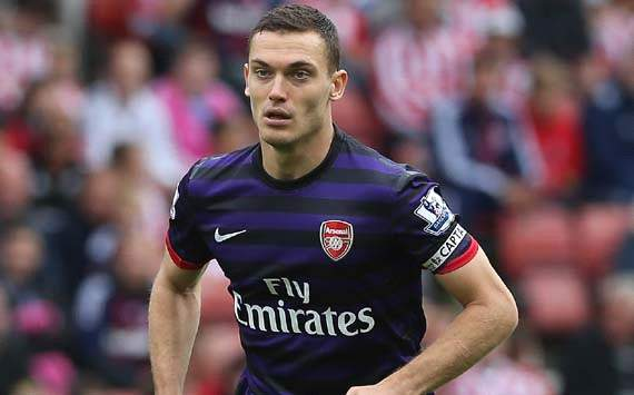 Arsenal defender Vermaelen: First half against Olympiakos was a struggle