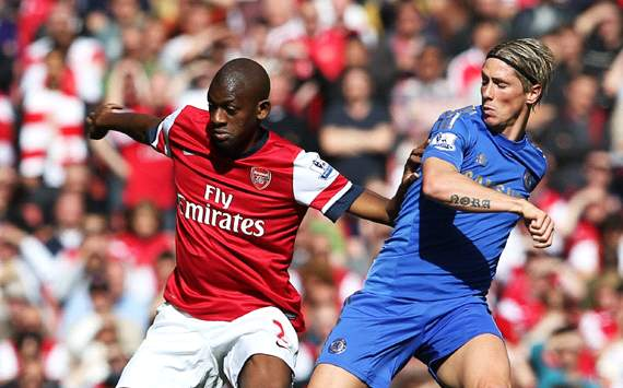 EPL:  Abou Diaby - Fernando Torres, Arsenal v Chelsea