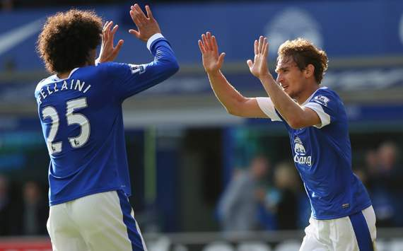 EPL - Everton vs Southampton, Nikica Jelavic &amp; Marouane Fellaini 