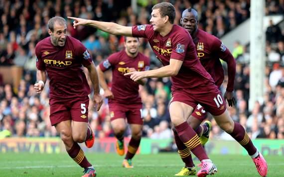 EPL - Fulham vs Manchester City, Edin Dzeko