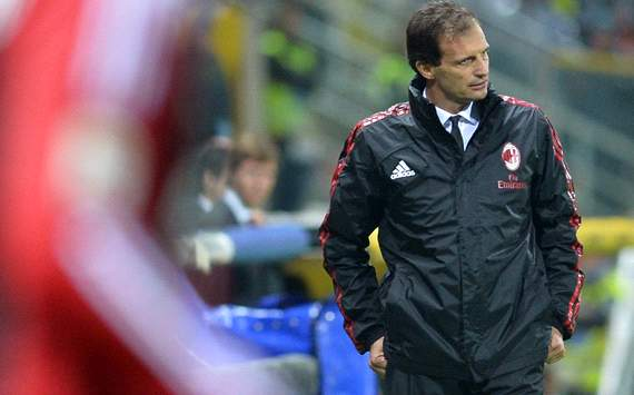 Allegri fears possible relegation battle for AC Milan