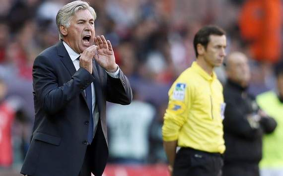 Ancelotti accuses referee of having 'a problem' with Paris Saint-Germain