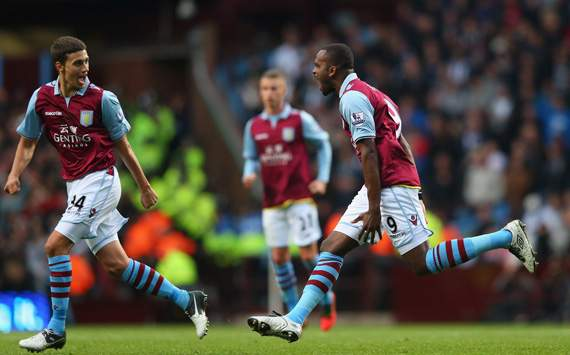 EPL - Aston Villa v West Bromwich Albion, Darren Bent and Matthew Lowton