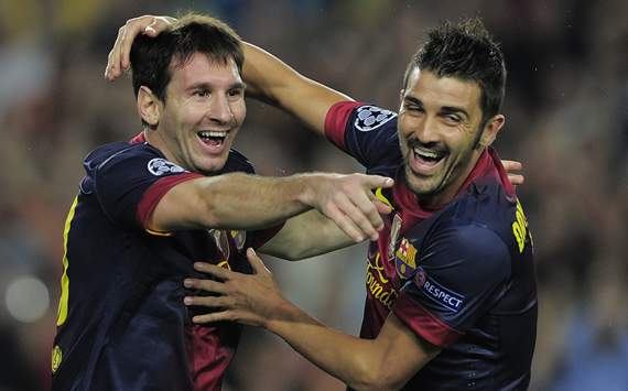 Lionel Messi, David Villa, Barcelona