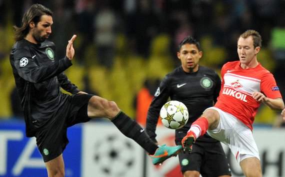 UEFA CL, Spartak Moscow v Celtic, Giorgos Samaras, Aiden McGeady