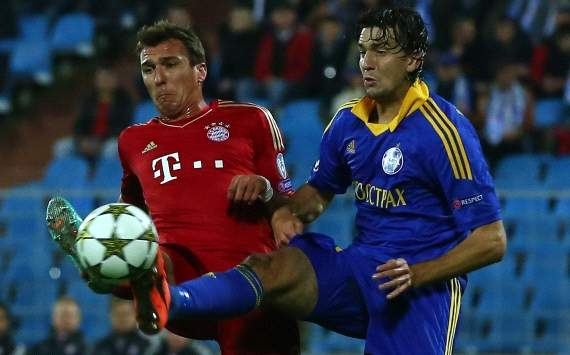UEFA, Champions League, BATE Baryssau vs. FC Bayern Munich, Mario Mandzukic, Marko Simic