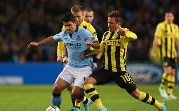 CL - Manchester City FC v Borussia Dortmund, Sergio Aguero and Mario Gotze