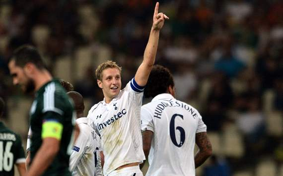 UEFA Europa League, Panathinaikos v Tottenham, Michael Dawson 