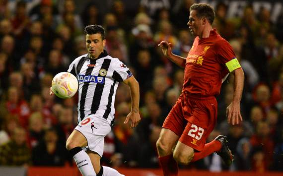 UEFA Europa League, Liverpool v Udinese, Antonio Di Natale, Jamie Carragher