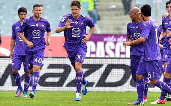 Fiorentina celebrating