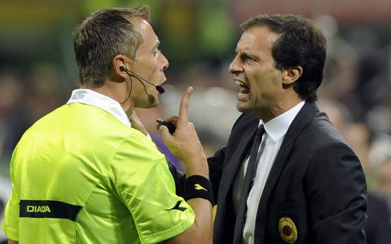 Massimiliano Allegri blasts referee after derby loss to Inter