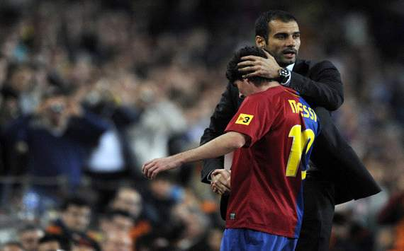Lionel Messi and Pep Guardiola 2008