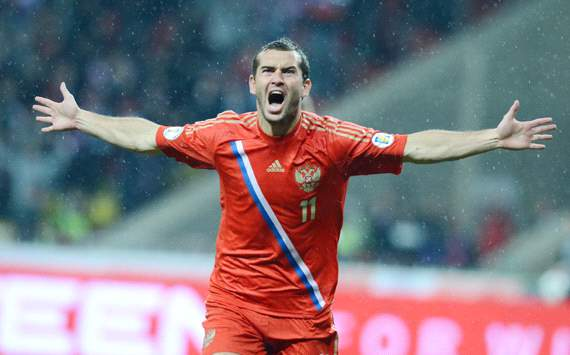 FIFA 2014 World Cup qualifying  - Aleksandr Kerzhakov , Russia and Portugal