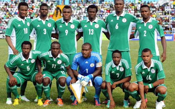 Super Eagles - Nigeria line up
