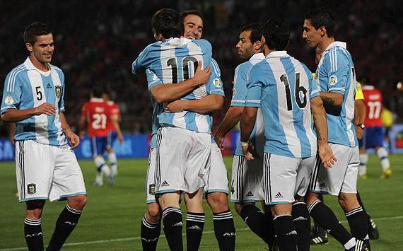 Argentina move into third place in Fifa Ranking