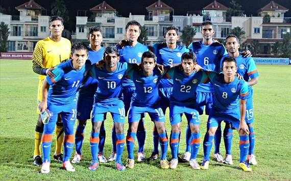 India ranked 169th in the latest FIFA rankings