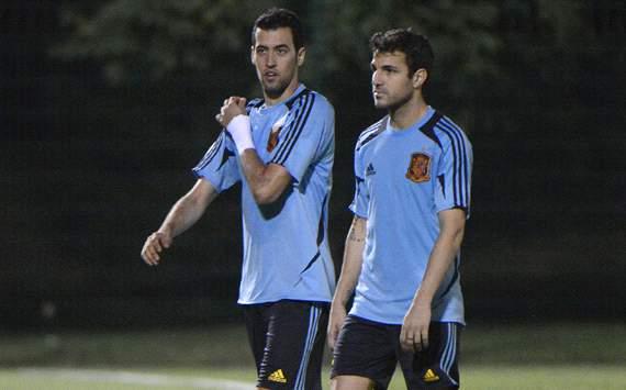 Sergio Busquets, Cesc Fabregas