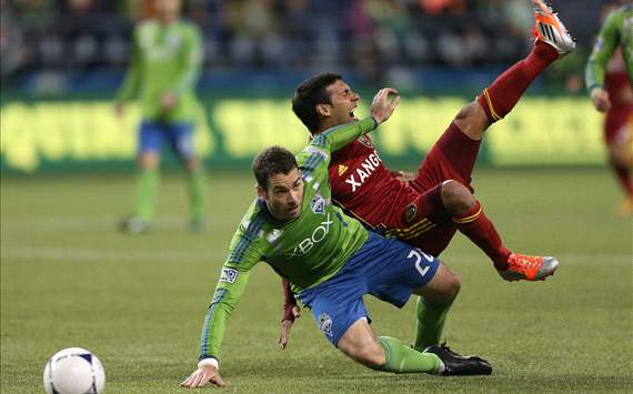 Zach Scott, Seattle Sounders FC; Javier Morales, Real Salt Lake; MLS