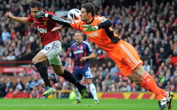 EPL; Asmir Begovic; Robin van Persie; Manchester United Vs Stoke City