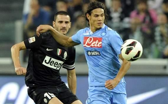 Edinson Cavani and Leonardo Bonucci - Juventus-Napoli