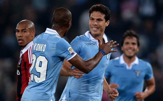 Konko, Hernanes - Lazio-Milan - Serie A