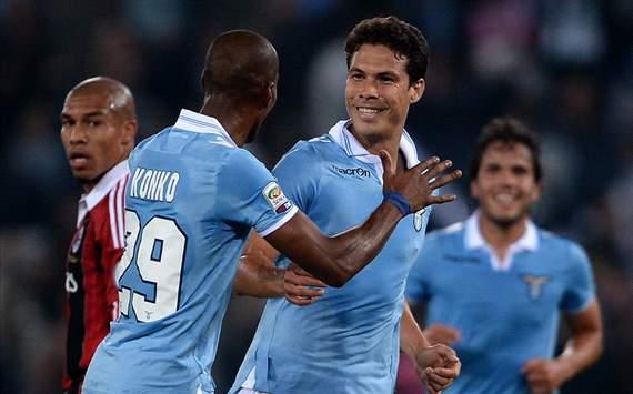 Konko, Hernanes - Lazio-Milan - Serie A