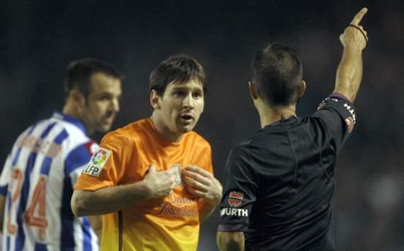 Lionel Messi, Paradas Romero - Deportivo Coruña v Barcelona
