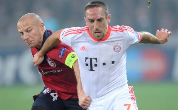 Champions League : Franck Ribéry vs Florent Balmont (Lille vs Bayern Munich)