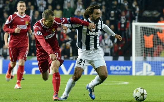Pirlo in Nordsjaelland-Juventus (Champions League)