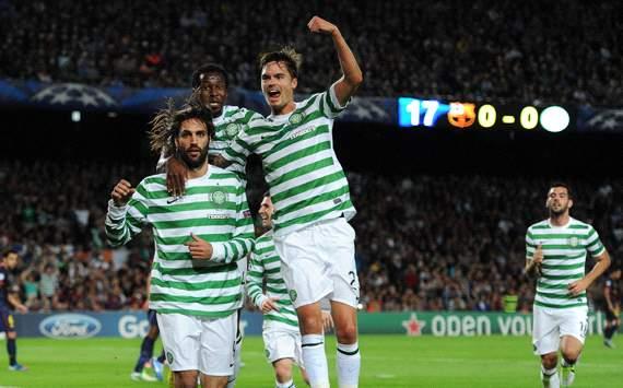 UEFA Champions League :   Giorgos Samaras; Mikael Lustig; Efe, FC Barcelona v Celtic FC