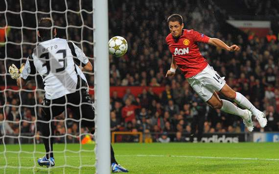 UEFA Champions League :   Javier Hernandez ,  Manchester United and Braga