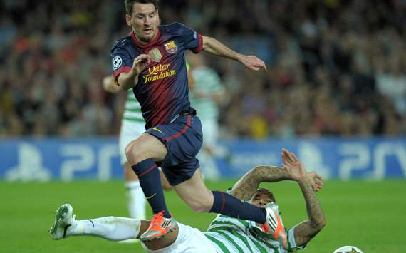UEFA Champions League :Lionel Messi - Kelvin Wilson,   FC Barcelona vs Celtic CF