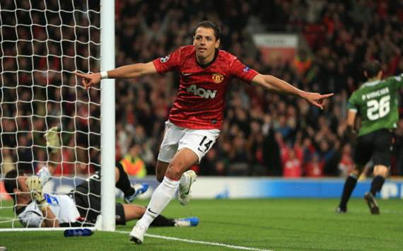 Chicharito Hernndez, jugador de la semana para Goal.com