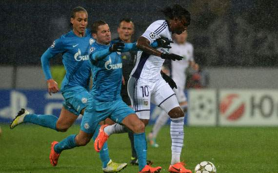 CL - ZENIT-ANDERLECHT, Viktor Fayzulin and Kanu