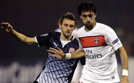Champions League : Ivan Tomecak vs Javier Pastore (Dinamo Zagreb vs Paris SG)