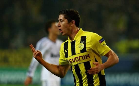 Robert Lewandowski - Borussia Dortmund v Real Madrid - UCL