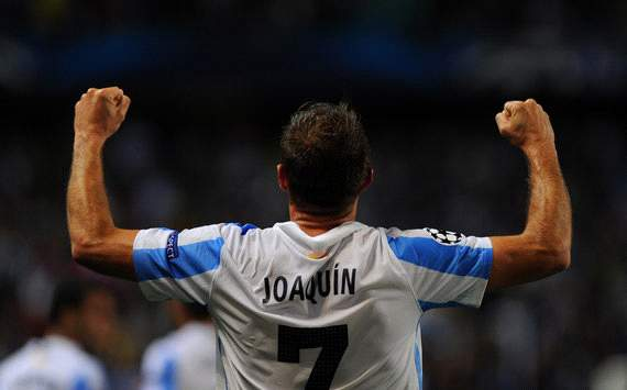 Joaquin hails Champions League progression as an 'important step' for Malaga